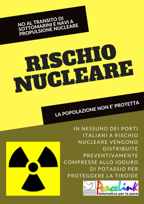 No al transito di sottomarini a propulsione nucleare nei porti italiani