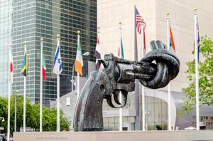 UN Nonviolence - knotted gun