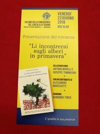 """Presentazione a Manduria del libro """"Li incontrerai sugli alberi in primavera"""""""