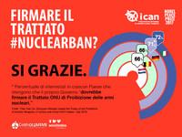 La maggioranza degli italiani è contro le armi nucleari e vorrebbe aderire al Trattato ONU di messa al bando, secondo il sondaggio ICAN/YouGov