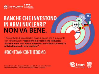 Sondaggio ICAN: niente soldi per la produzione nucleare