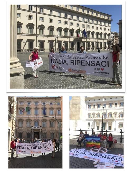 Consegna simbolica a Roma delle 31.000 cartoline di #ItaliaRipensaci