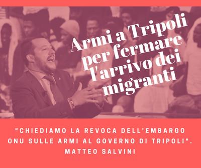 Le proposte di Salvini per bloccare i migranti