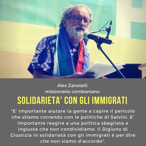 Padre Alex Zanotelli e la solidarietà agli immigrati