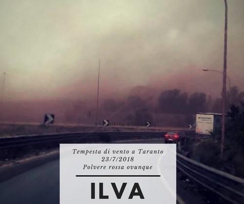 """Vento del 23 luglio 2018 a Taranto. La foto mi era stata inviata da Luigi Insogna in real time con la scritta """"vergogna""""."""