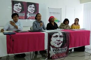 Conferenza stampa Copinh (Foto GT | LINyM)