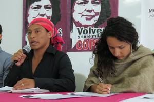 Gaspar Sánchez e Bertha Zúniga Cáceres (Foto GT | LINyM)