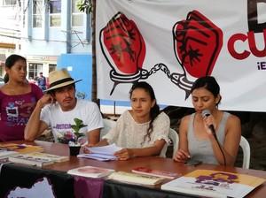 Conferenza stampa Copinh (Foto Cofadeh)