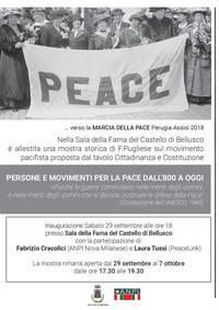 ...verso la MARCIA DELLA PACE Perugia Assisi 2018