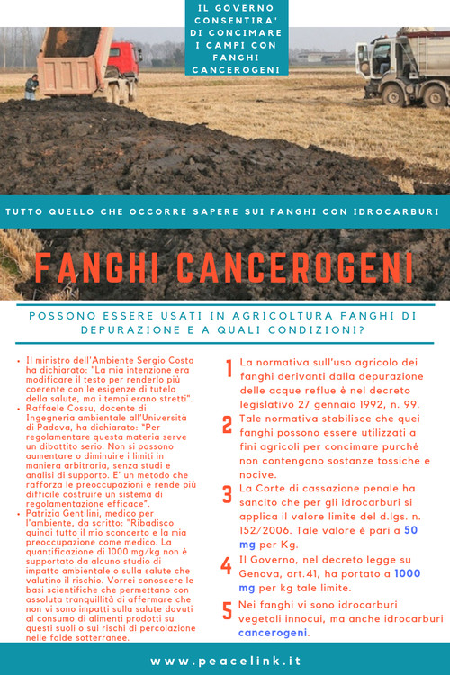 Fanghi cancerogeni: la nuova norma del Decreto legge su Genova