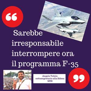 """Tofalo (M5s): """"Da irresponsabili interrompere il programma F-35"""""""