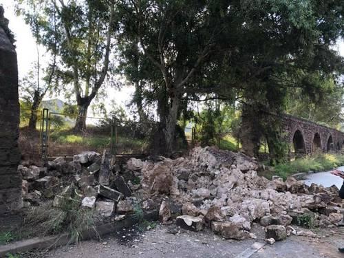 Acquedotto del Triglio, crollo a Taranto, davanti all'ILVA, in data 6 novembre 2018
