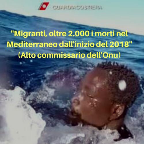 """L'Alto commissario dell'Onu per i rifugiati: """"A settembre una persona ogni otto che ha effettuato la traversata ha perso la vita, soprattutto a causa della ridotta capacità di soccorso""""."""