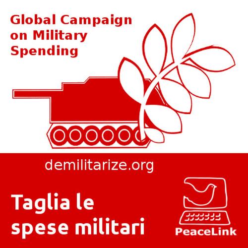 Ti invitiamo a partecipare alla GCOMS (Global Campaign on Military Spending). Lo scopo della campagna è quello di spingere i governi (compreso quello italiano) a investire denaro nel settore della salute, dell'istruzione, dell'occupazione e del cambiamento climatico piuttosto che in quello militare.