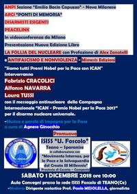 """""""La follia del nucleare"""" in videoconferenza da Milano con gli Istituti Scolastici di Teano"""