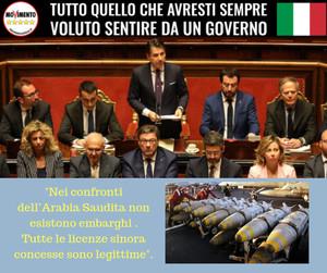Il Sottosegretario Guglielmo Picchi a nome del Governo si dichiara che non vi sono divieti di vendita di armi italiane all'Arabia Saudita, nazione notoriamente in guerra sul territorio dello Yemen