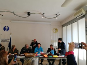 Andrea Iacomini, portavoce Unicef Italia, a Taranto nella sede del'Ordine dei Medici, in conferenza stampa