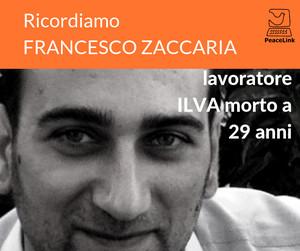 Francesco Zaccaria, operaio ILVA morto a 29 anni sul lavoro
