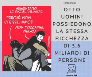 """""""OTTO UOMINI POSSIEDONO LA STESSA RICCHEZZA DI 3,6 MILIARDI DI PERSONE""""(OXFAM)"""