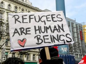 Manifestazione per i rifugiati