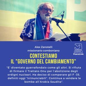 """Padre Alex Zanotelli contesta il governo """"del cambialento"""""""