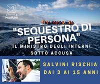 Migranti, Salvini rischia una pena dai tre ai quindici anni per sequestro aggravato di persona