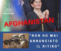 """""""Nessun ritiro dall'Afghanistan, mi hanno frainteso"""""""