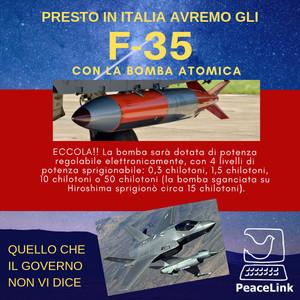 Campagna di informazione sugli F-35 e la nuova bomba atomica B-61 mod.12
