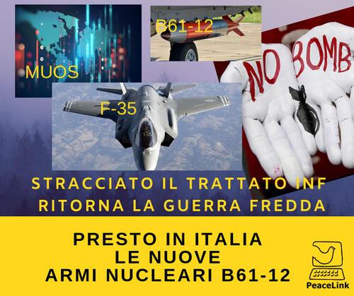 """L'F-35A entro il 2022 dovrebbe ottenere la capacità di trasportare internamente la bomba nucleare B61-12. Ogni bomba dell'F-35 ha una potenza regolabile: da un massimo equivalente di 50.000 tonnellate di tritolo ad un minimo di 300. La resa esplosiva della bomba può essere ridotta elettronicamente attraverso un sistema di calibrazione. L'obiettivo è quello di rendere """"accettabile"""" un'esplosione atomica. La nuova bomba nucleare B61-12 è efficare per distruggere un bunker nemico, perché penetra in profondità nel terreno distruggendo il cuore centrale del comando dell'avversario. Perché il M5s, adesso che è al governo, non sta dicendo nulla su queste armi nucleari di nuova generazione che arriveranno anche in Italia?"""
