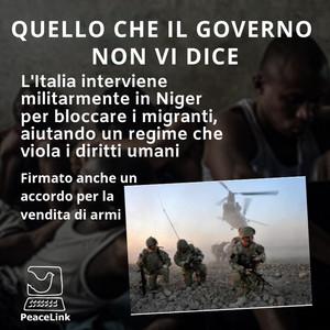 I retroscena della missione italiana in Niger: armi e migranti