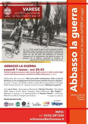 La mostra ABBASSO LA GUERRA a Varese