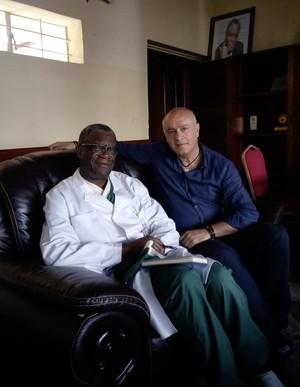 Denis Mukwege, medico congolese premio Nobel per la pace 2018 e il professor Francesco Barone