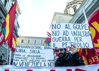 Roma. Manifestazione per il Venezuela, ma contro il golpe e la complicità dell'Italia