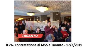 M5s contestato a Taranto