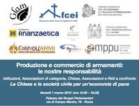 """Venerdì 1 marzo a Roma: """"Produzione e commercio di armamenti:  le nostre responsabilità"""""""