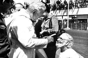 Cardenal e Giovanni Paolo II