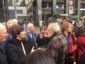 Con Gino Strada alla manifestazione di Milano