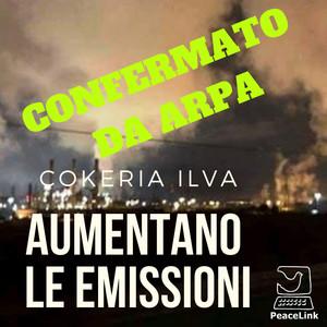 Confermate emissioni in aumento delle emissioni della cokeria ILVA