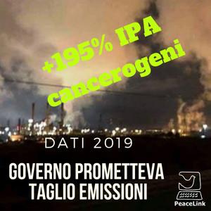 Aumentano le emissioni di IPA nel 2019 dalla cokeria ILVA rispetto al 2018