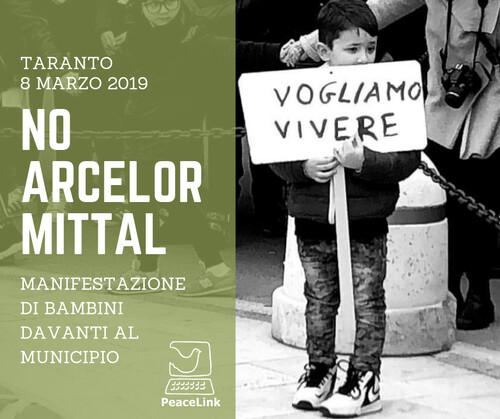 I bambini di Taranto hanno accerchiato il municipio. ArcelorMittal sta gestendo l'ILVA di Taranto. Le emissioni cancerogene del 2019 risultano in aumento. Lo attestano le centraline Arpa. PeaceLink ha elaborato i dati.