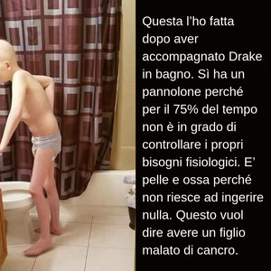 Drake, bambino di dieci anni malato di cancro