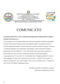 Una scuola di Taranto dichiara la propria vicinanza alle vittime dell'inquinamento