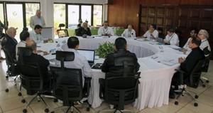 Tavolo di negoziazione governo-Alleanza Civica (Foto AFP)