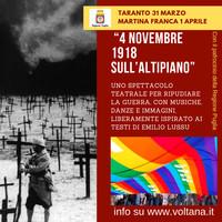 """Spettacolo teatrale """"4 novembre 1918 sull'altipiano"""""""