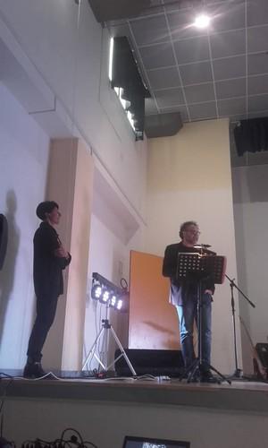 Da sinistra Marinella Marescotti e Gianni Svaldi, auditorium Cappelli, 1 aprile 2019 Martina Franca