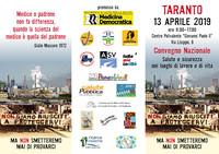 """Convegno a Taranto: """"Salute e sicurezza nei luoghi di lavoro e di vita"""""""