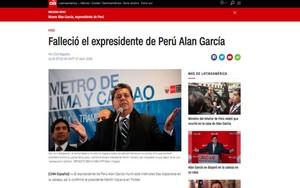 morte dell'ex presidente peruviano Garcia