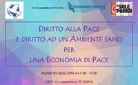 Diritto alla Pace e Diritto ad un Ambiente sano per una Economia di Pace