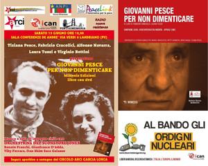 ICAN - Siamo tutti Premi Nobel per la Pace. Libro Giovanni Pesce a Landriano - Pavia