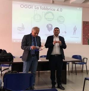Marco Bentivogli all'IISS Righi con Alessandro Marescotti